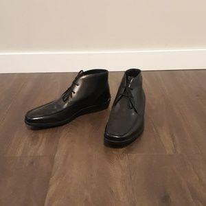 Men's Tod's Black Leather Dress Chukka Boot
